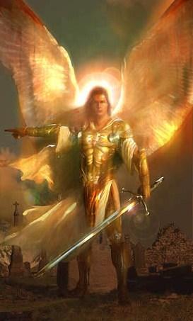 Die Aartsengel Gabriël soos gevind by http://www.devinemiracles.com/How-To-Meet-Angels.html